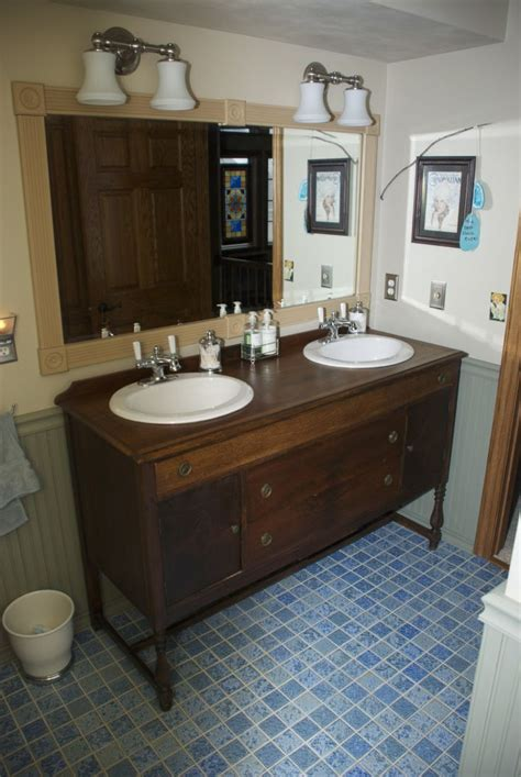 bathroom vanity   vintage buffet sideboard