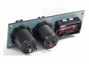 Double Usb Socket  U0026 12v Socket On Panel With Volt Meter