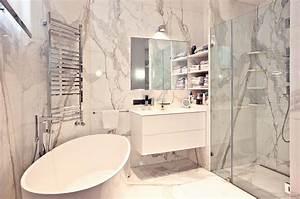 Salle De Bain Marbre Blanc : rue de prony ~ Nature-et-papiers.com Idées de Décoration