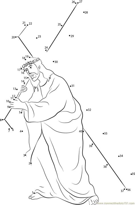 print jesus carrying cross dot  dot