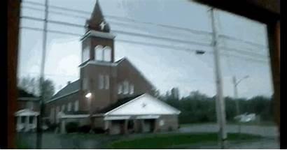 Church Lightning Struck Going Happen Steeple Strikes