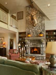 Primitive Living Rooms Design by Ledge Stone Fireplaces Home Design Ideas Pictures