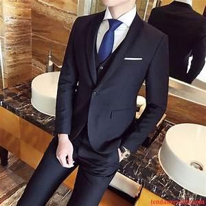 Solde Vetement De Travail : costume noir pas cher slim mariage blazer homme une veste ~ Edinachiropracticcenter.com Idées de Décoration