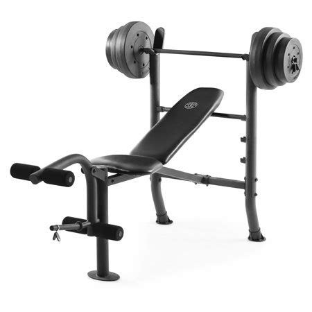 bench with weights gold s xr 8 1 combo weight bench with 100 lb vinyl