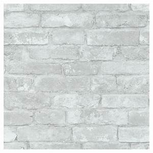 Papier Peint Brique Gris : papier peint imitation de briques 20 5 x 18 39 gris blanc ~ Dailycaller-alerts.com Idées de Décoration