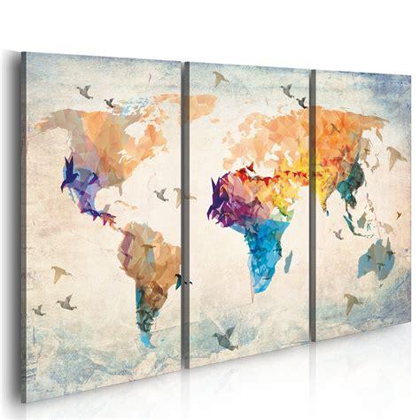 Toile Carte Du Monde by Grand Format Impression Sur Toile Images 3