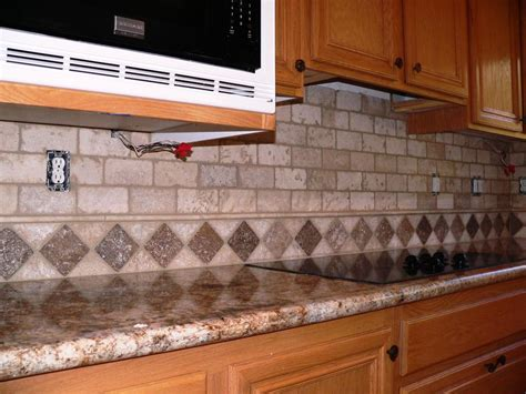 Pictures Of Mosaic Backsplash In Kitchen : Travertine Subway Tile Backsplash Pictures