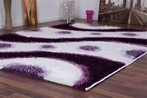 enorm teppich violett designer moderne teppiche meliert With balkon teppich mit barock tapete violett