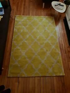Tapis Jaune Et Gris : tapis jaune et gris 140 200cm luckyfind ~ Teatrodelosmanantiales.com Idées de Décoration