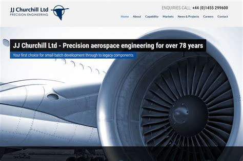 jj churchill engineering company website design