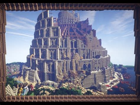 minecraft tower  babel youtube