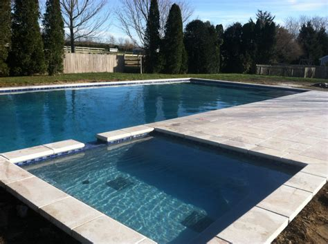 pool spillover spa with marble in suffolk county patricks pools island ny pool