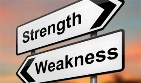 Strength And Weakness In weaknesses versus strengths