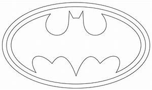 printable superman logo template party party pinterest With batman template for cake