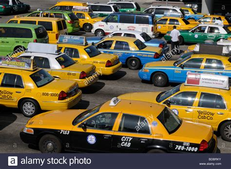Taxis Waiting Just Outside The Los Angeles International