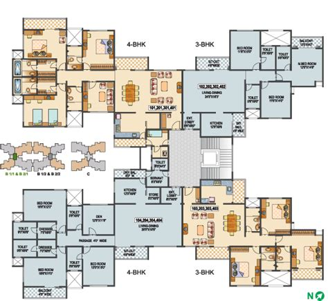 building plan typical building type b1 1 b2 1 1st 2nd 3rd 4th floor plans floor plan green groves
