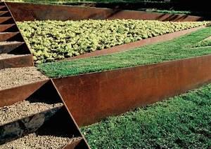 Bordure De Jardin Metal : bordure acier corten pour jardin durables et esth tiques ~ Dailycaller-alerts.com Idées de Décoration