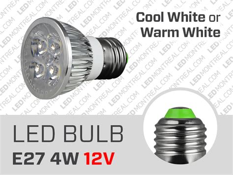 4w 12v dimmable e27 led light bulb magnet montreal