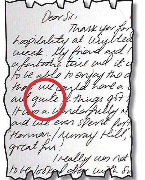 kate middleton wimbledon letter   note