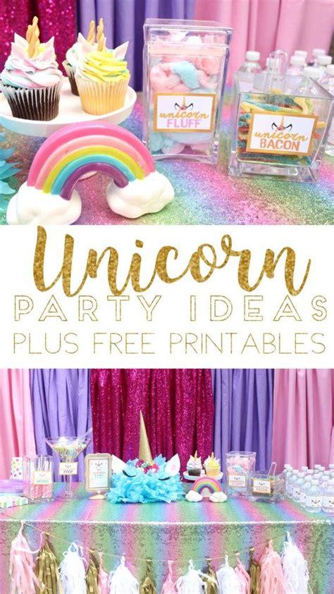unicorn birthday party ideas   printable