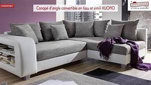 canape d39angle convertible en tissu et simili kuopio youtube With canapé d angle convertible tissu et simili kuopio