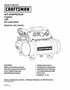 Sears Craftsman Owners Manuals