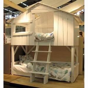 Lit Mezzanine Double : lit cabane mezzanine superpos bambins d co ~ Premium-room.com Idées de Décoration