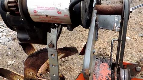 homemade rototiller youtube