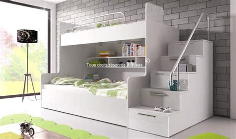 lit superpose escalier avec rangement lit superpos avec escalier et rangements camille