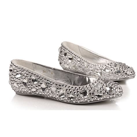 flat silver shoes wedding flats and ballerinas for brides wardrobelooks com