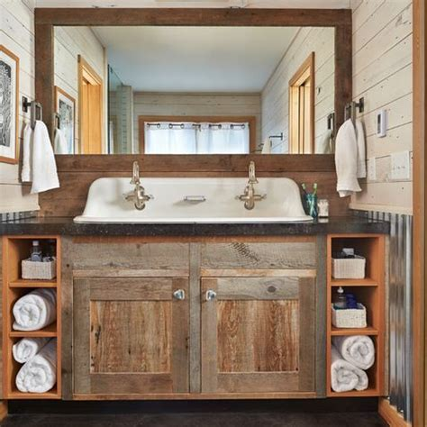 rustic bathroom makeovers on a budget barnwood design