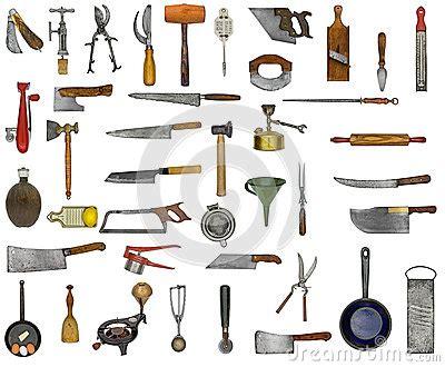 image d ustensiles de cuisine collage d 39 ustensiles de cuisine de vintage images libres