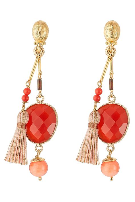 Lyst - Gas Bijoux Serti Pondichery Small Gold Plated