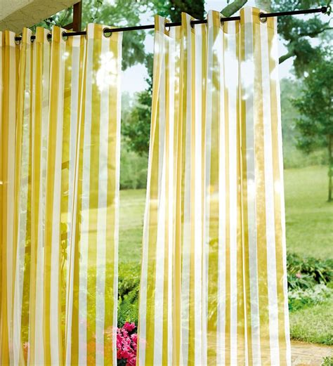 sale uv resistant 84 quot l outdoor sheer grommet drape