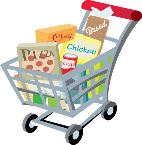 Shopping Cart Clipart File Shopping Cart With Food Clip 2 Svg Wikimedia