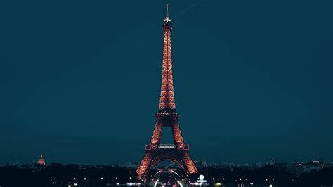 ml paris night france city blue eiffel tower wallpaper