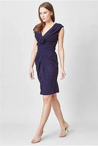 navy dress with rose c39est ma robe With robe verte col v