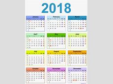 Download 2018 CALENDAR UK 2018 Calendar printable for