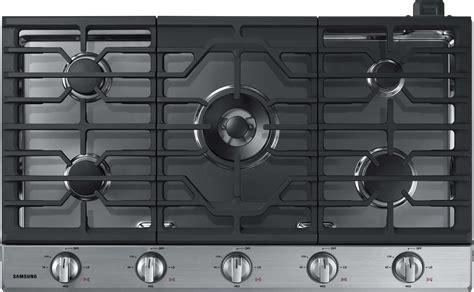 samsung nakts   gas cooktop   sealed burners  btu power burner griddle