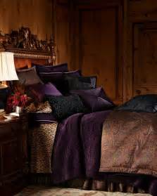 purple gold and black bedroom decorating ideas