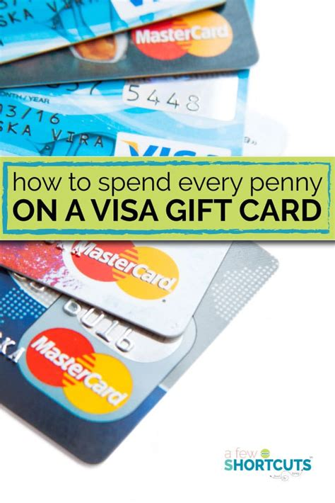 Spend Every Penny On A Visa  Ee  Gift Ee    Ee  Card Ee   A Few Shortcuts