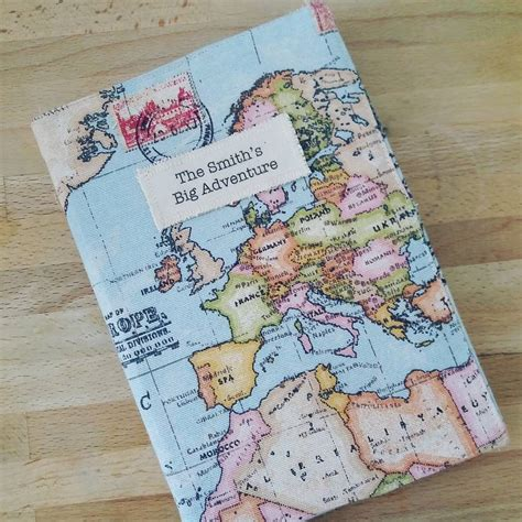personalised map notebook by lime notonthehighstreet
