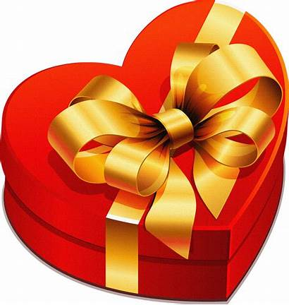 Gift Box Heart Clipart Gold Bow Gifts