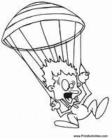 Coloring Parachute Paraquedismo Desenho Paratrooper Scared Colorir Imprimir Parachutes Parachuter Popular Tudodesenhos Coloringhome sketch template