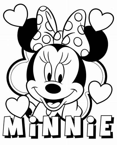 Minnie Mouse Coloring Pages Disney Characters Topcoloringpages