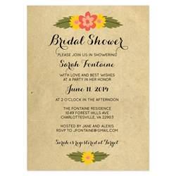 wedding shower invitation wording bridal shower invitations rustic bridal shower invitation templates free