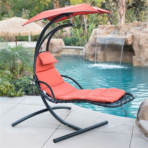 hammock swing chairs hanging chaise lounger chair arc stand air porch swing