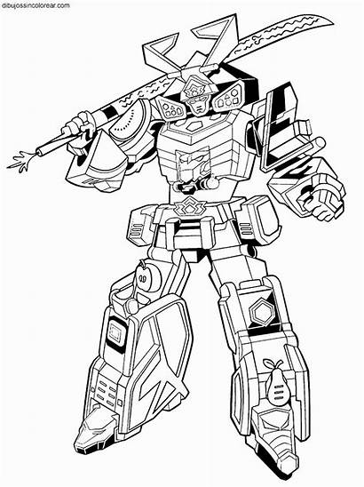 Coloring Pages Morphin Power Megazord Rangers Mighty