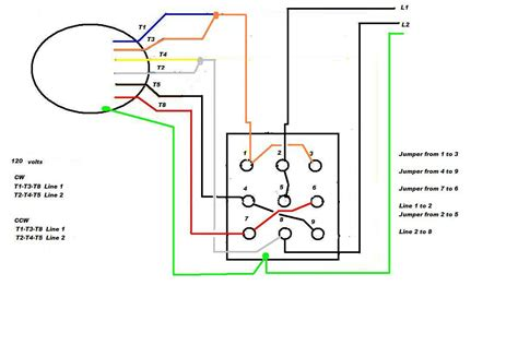 Wiring A Switch To An Schematic by Wiring A 9 Lead Motor To Drum Switch