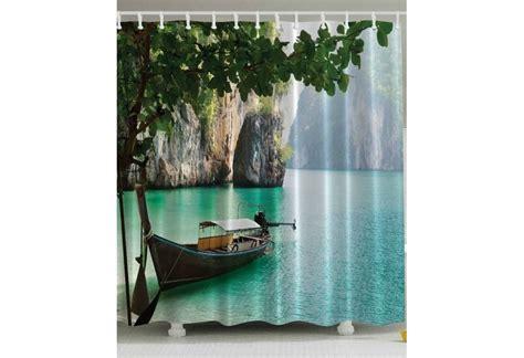 tropical fish shower curtain tropical island shower curtain
